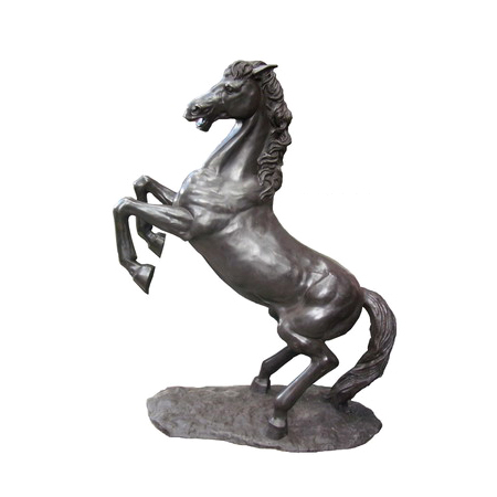 SRB705949 Bronze Rearing Horse Sculpture Metropolitan Galleries Inc
