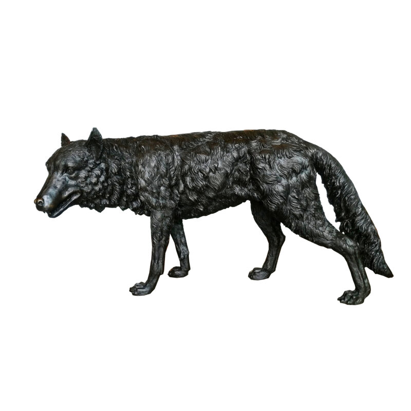 SRB707515 Bronze Wolf Sculpture Metropolitan Galleries Inc.