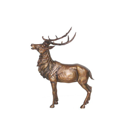 SRB706419 Bronze Deer Sculpture by Metropolitan Galleries Inc