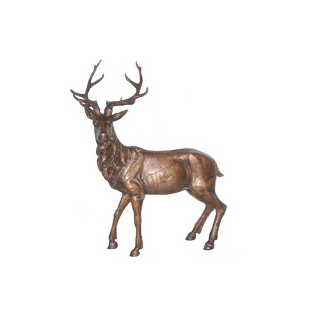 SRB706420 Bronze Deer Sculpture by Metropolitan Galleries Inc