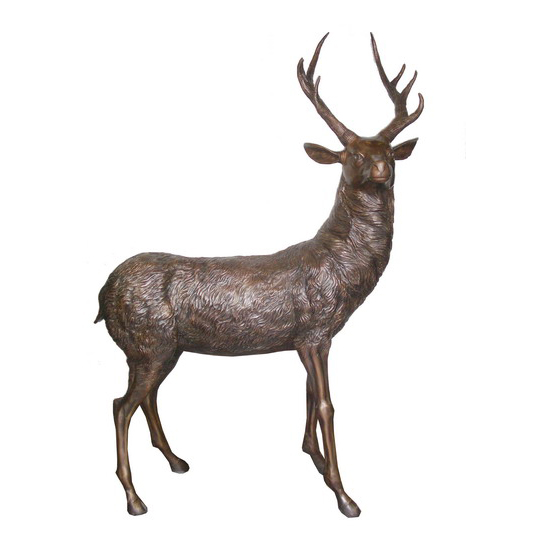 SRB706432 Bronze Deer Sculpture by Metropolitan Galleries Inc