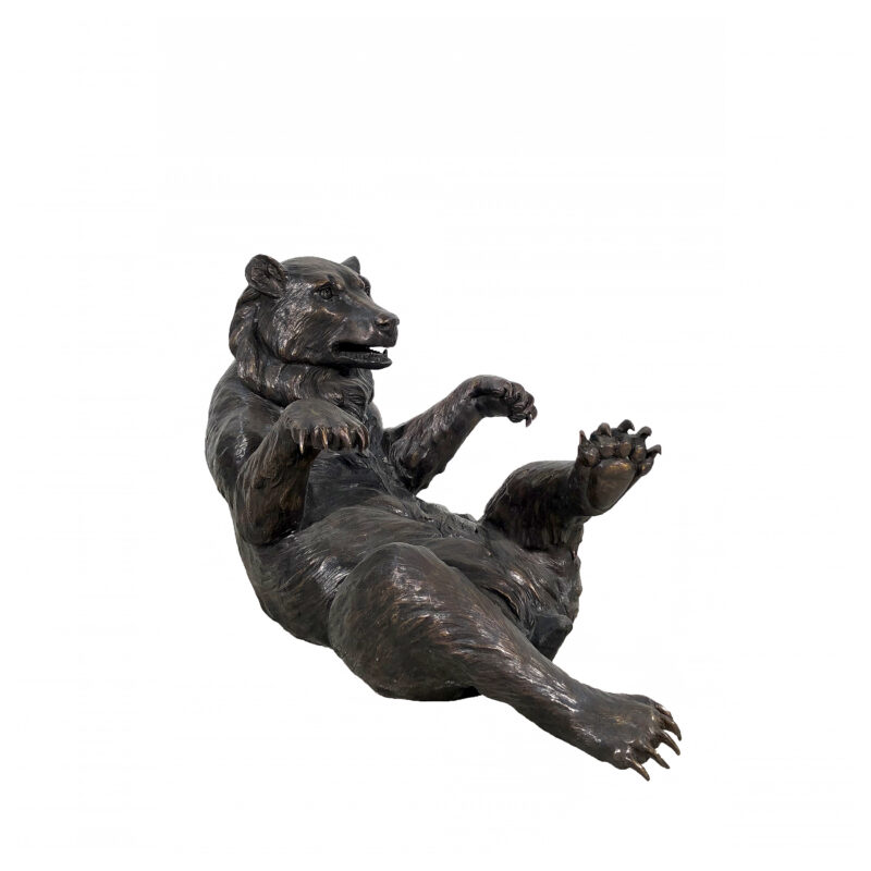 SRB703067 Bronze Bear Coffee Table Sculpture in Brown Patina by Metropolitan Galleries Inc