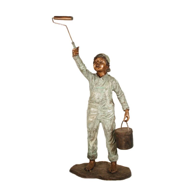 SRB028410 Bronze Painting Boy Sculpture by Metropolitan Galleries Inc