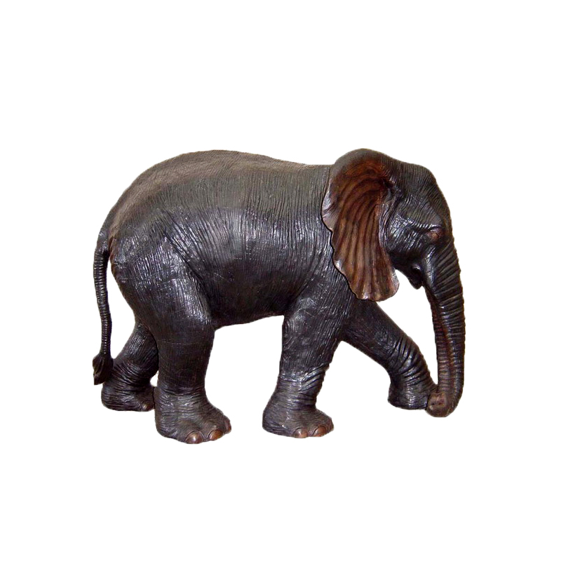 SRB704331-B Bronze Baby Elephant Fountain Trunk Down Sculpture by Metropolitan Galleries Inc