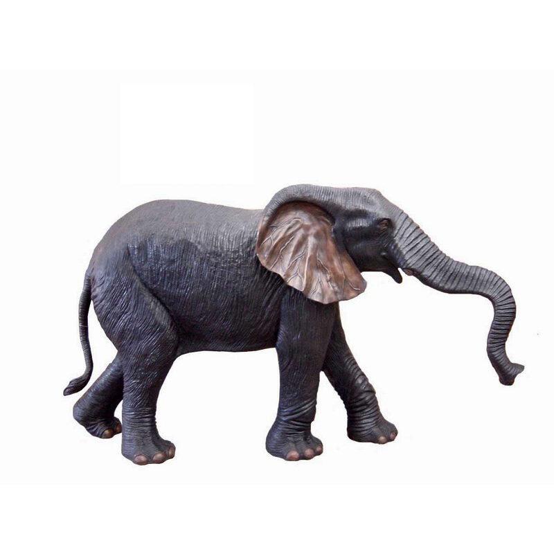 SRB704331-D Bronze Mother Elephant Fountain Sculpture by Metropolitan Galleries Inc