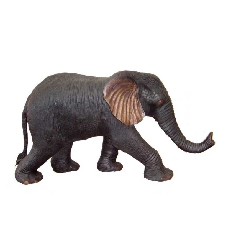 SRB704331-E Bronze Baby Elephant Fountain Sculpture by Metropolitan Galleries Inc