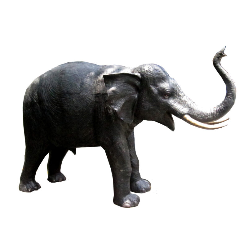 SRB707020 Bronze Elephant Sculpture by Metropolitan Galleries Inc