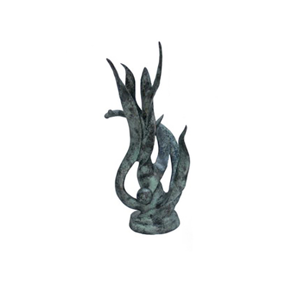 SRB705859 Bronze Abstract 'Whimsical Grass' Sculpture by Metropolitan Galleries Inc