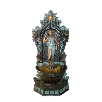 SRB706060 Bronze Standing Lady Wall Fountain by Metropolitan Galleries Inc