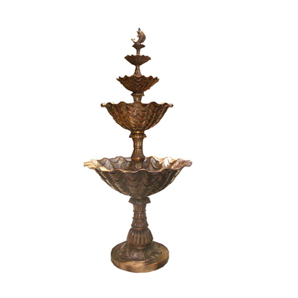 SRB706346 Bronze Fish Tier Fountain by Metropolitan Galleries Inc