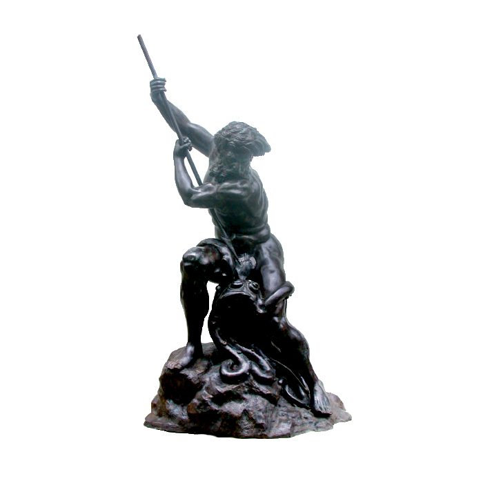 SRB992503 Bronze Neptune on Rock Sculpture by Metropolitan Galleries Inc