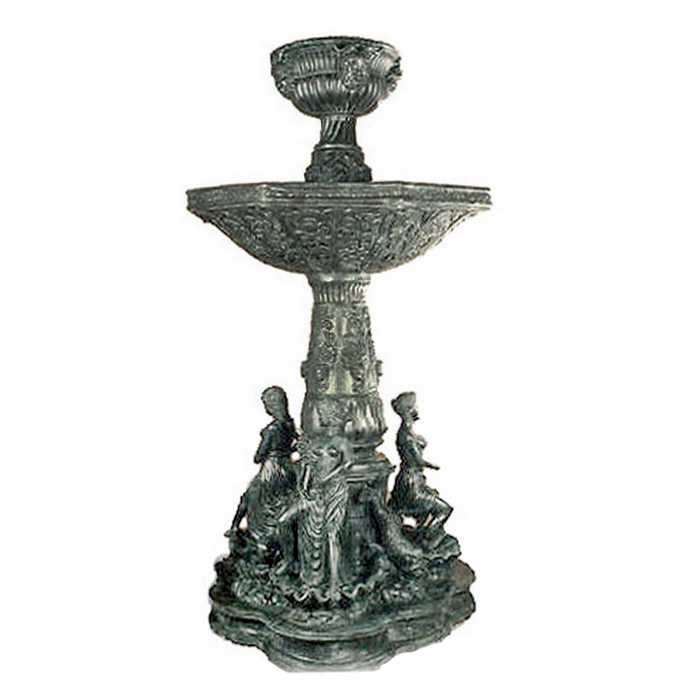 SRB992532 Bronze Four Ladies Bowl Tier Fountain by Metropolitan Galleries Inc