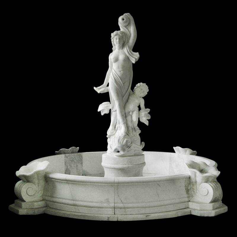JBF029 Marble Mother & Child Fountain with Basin by Metropolitan Galleries Inc DK