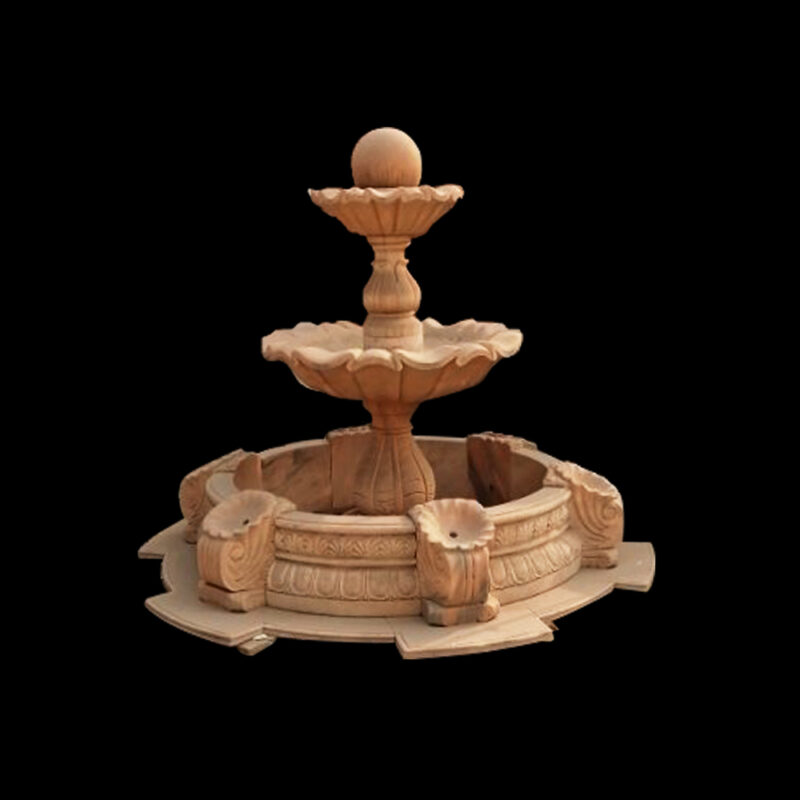 JBF058 Marble Classical Two Tier Fountain with Basin by Metropolitan Galleries Inc