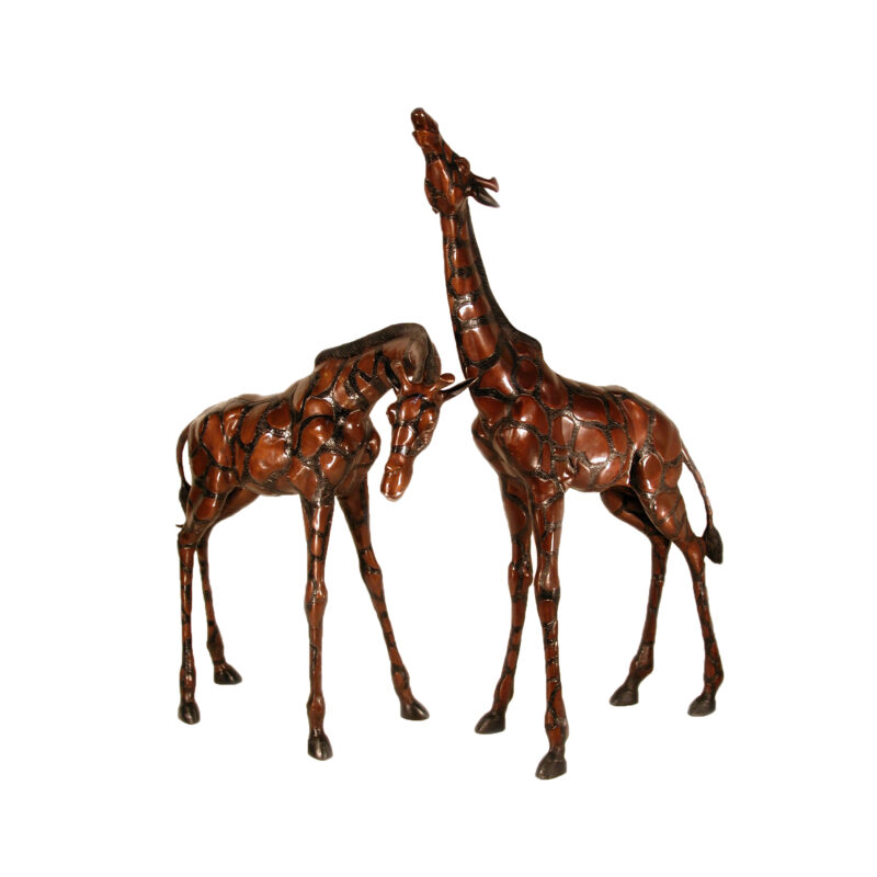 SRB019610 Bronze Small Giraffe Set by Metropolitan Galleries Inc
