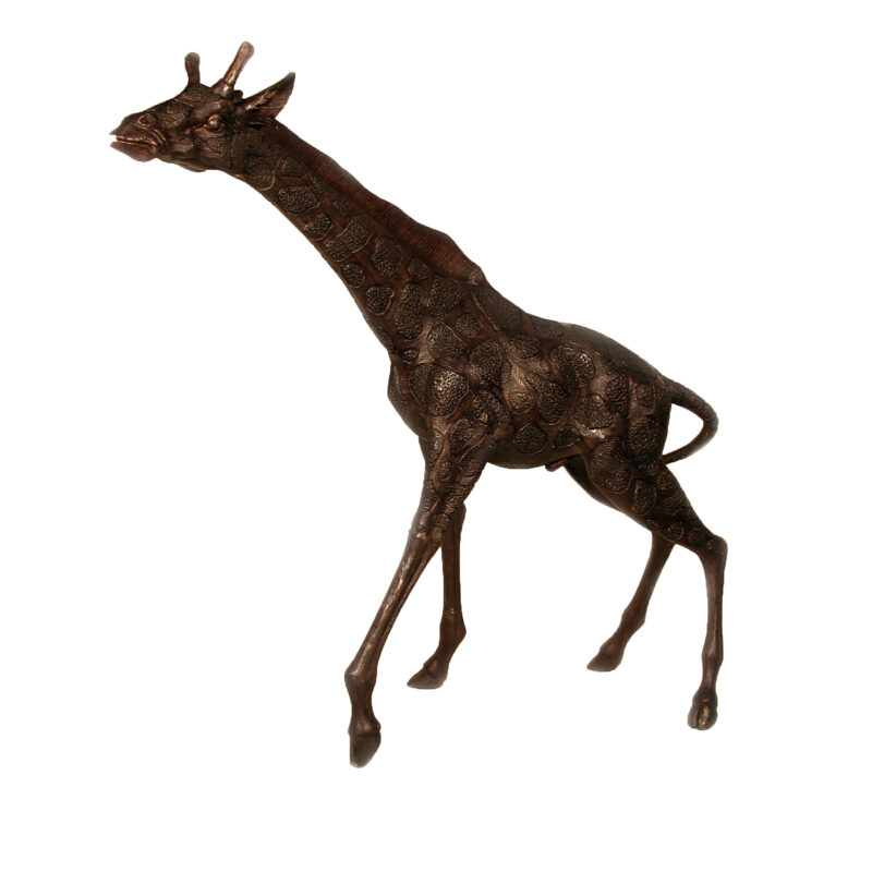 SRB055016 Bronze Giraffe Sculpture by Metropolitan Galleries Inc