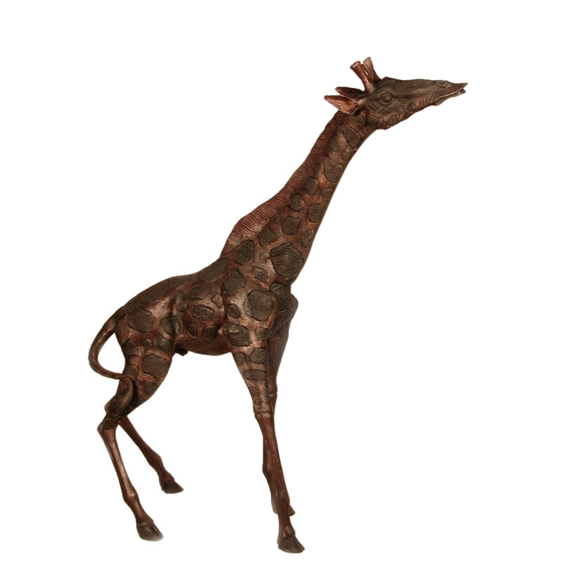 SRB055017 Bronze Giraffe Sculpture by Metropolitan Galleries Inc