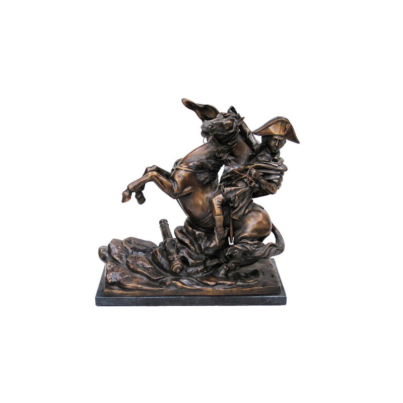 SRB704197 Bronze Soldier on Horse Sculpture by Metropolitan Galleries Inc