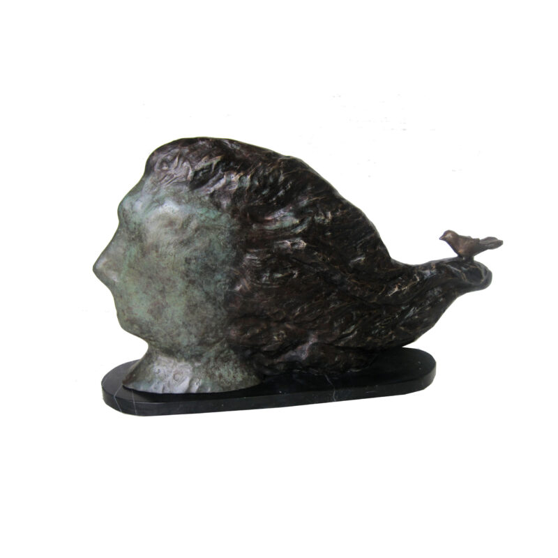 SRB706970 Bronze Abstract Bird Lady Sculpture by Metropolitan Galleries Inc