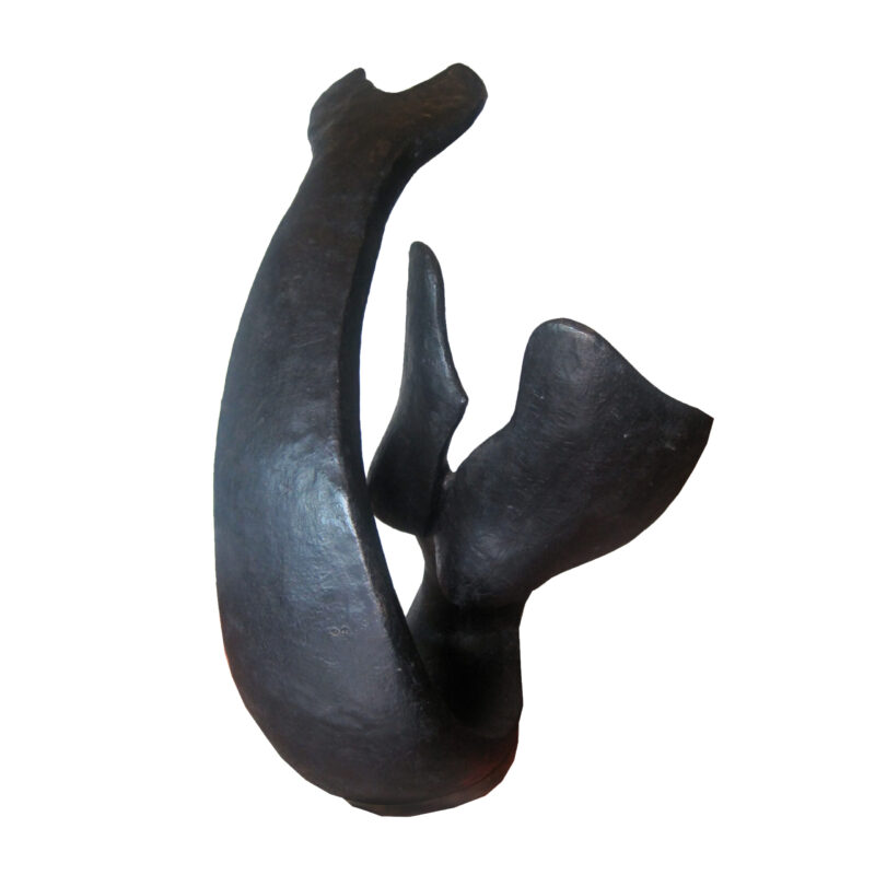 SRB707179 Bronze Abstract Mermaid Fin Sculpture by Metropolitan Galleries Inc.