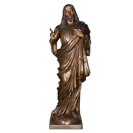 SRB052780 Bronze Large Jesus Sculpture by Metropolitan Galleries Inc
