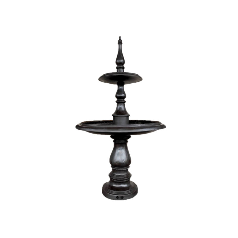 SRB057494 Bronze Contemporary Two Tier Fountain in Dark Brown by Metropolitan Galleries Inc