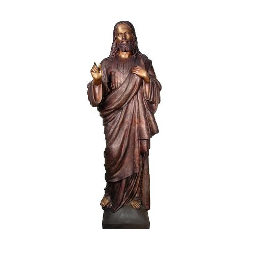 SRB094132 Bronze Jesus Sculpture by Metropolitan Galleries Inc