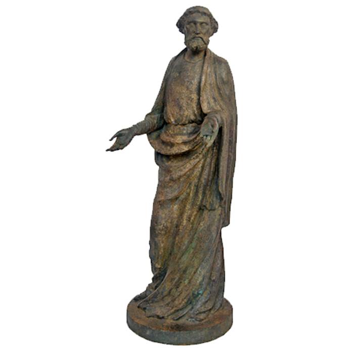 SRB88015 Bronze Joseph with Hands Out Sculpture by Metropolitan Galleries Inc