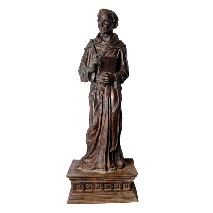 SRB88839 Bronze Holy Priest Sculpture atop Pedestal by Metropolitan Galleries Inc