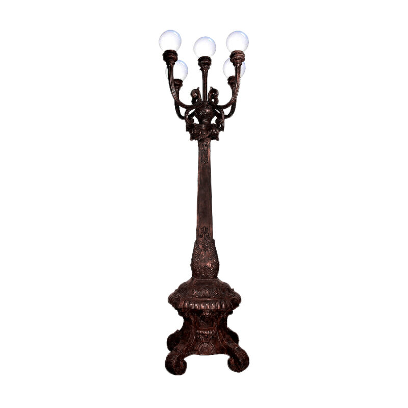 SRB049090 Bronze Classical Five Light Floor Lamp by Metropolitan Galleries Inc