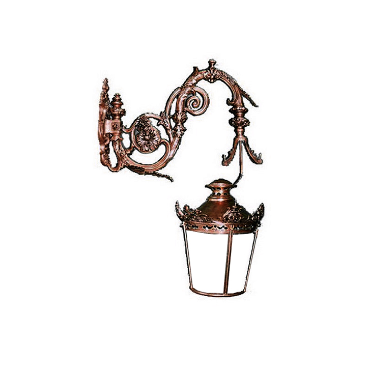 SRB51034 Bronze Ornamental Wall Lantern by Metropolitan Galleries Inc