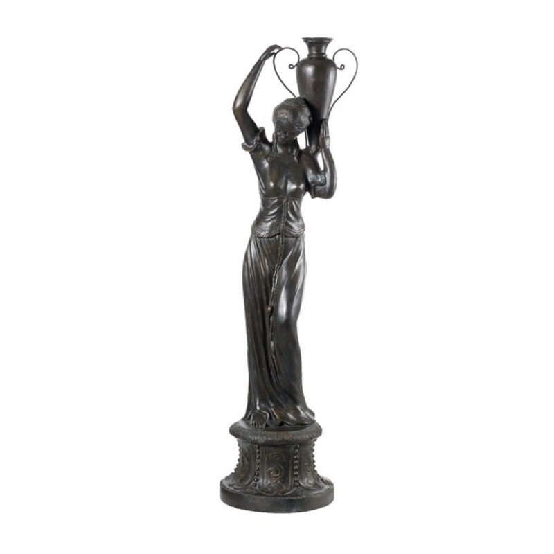 SRB53070 Bronze Classical Deco Lady holding Vase Fountain by Metropolitan Galleries Inc