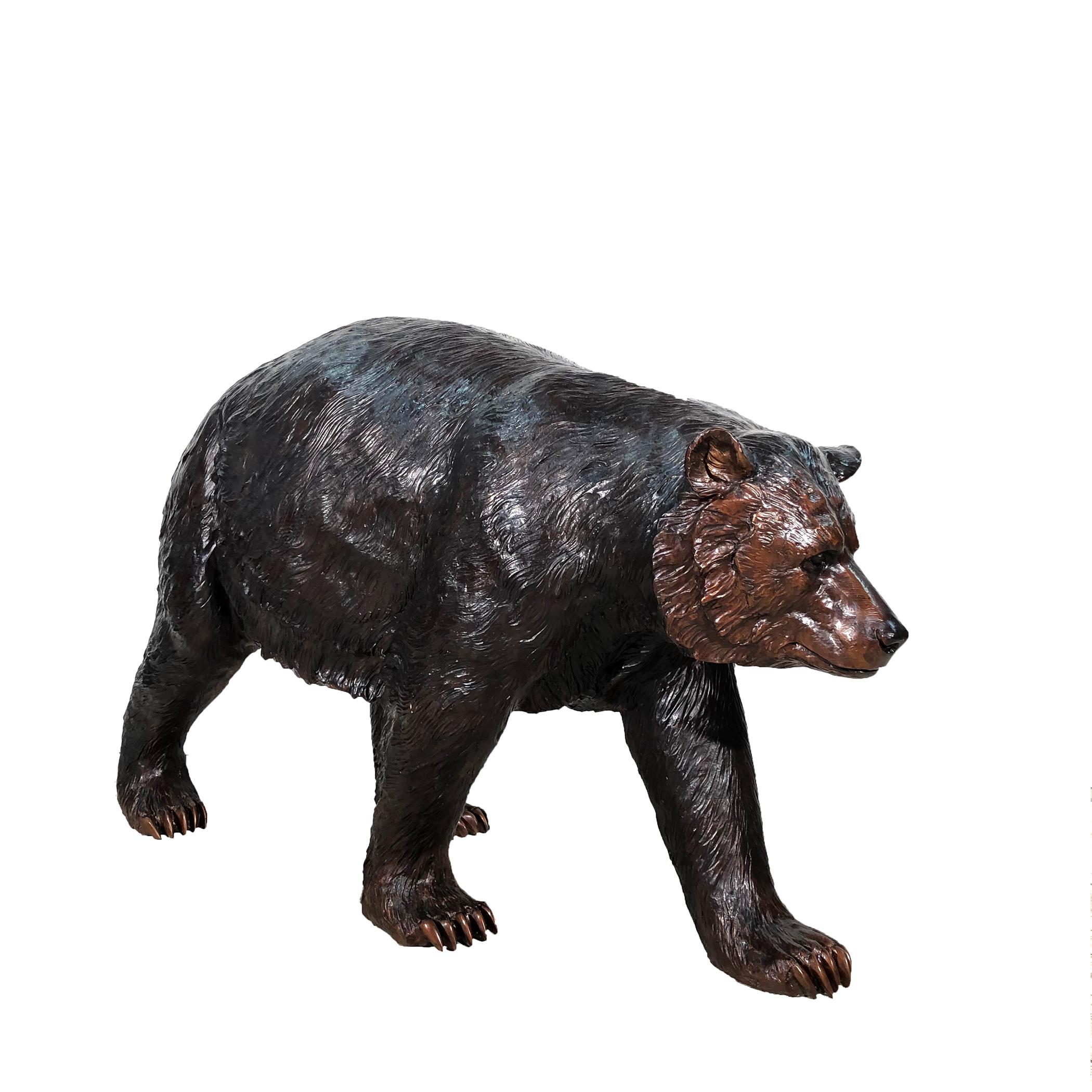 SRB099885 Bronze Blazer the Black Bear Sculpture Exclusive by Metropolitan Galleries Inc 2