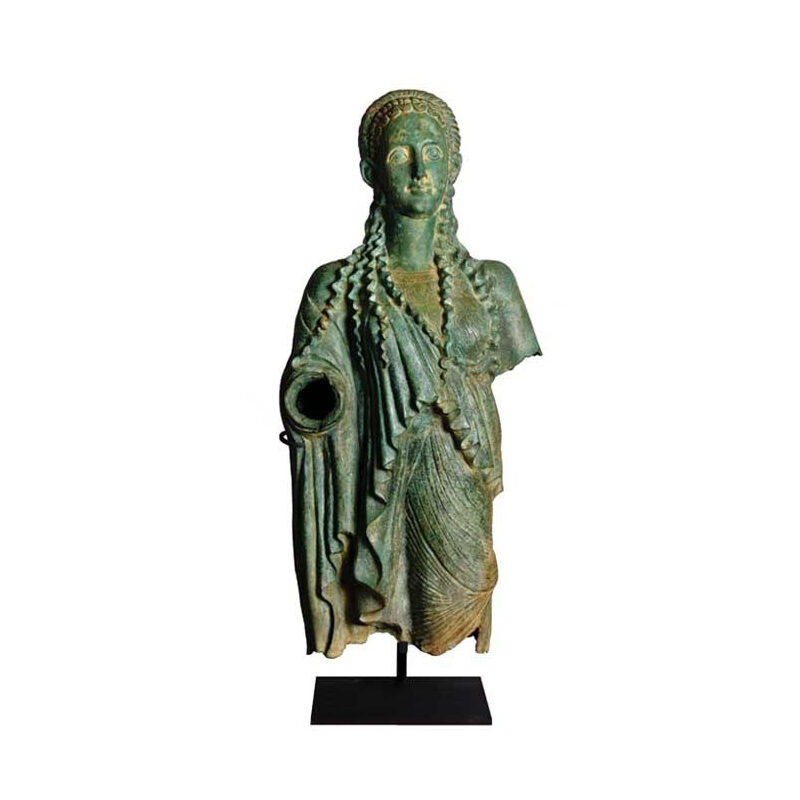 SRB53050 Bronze Cherokee Female Partial Artifact Sculpture by Metropolitan Galleries Inc