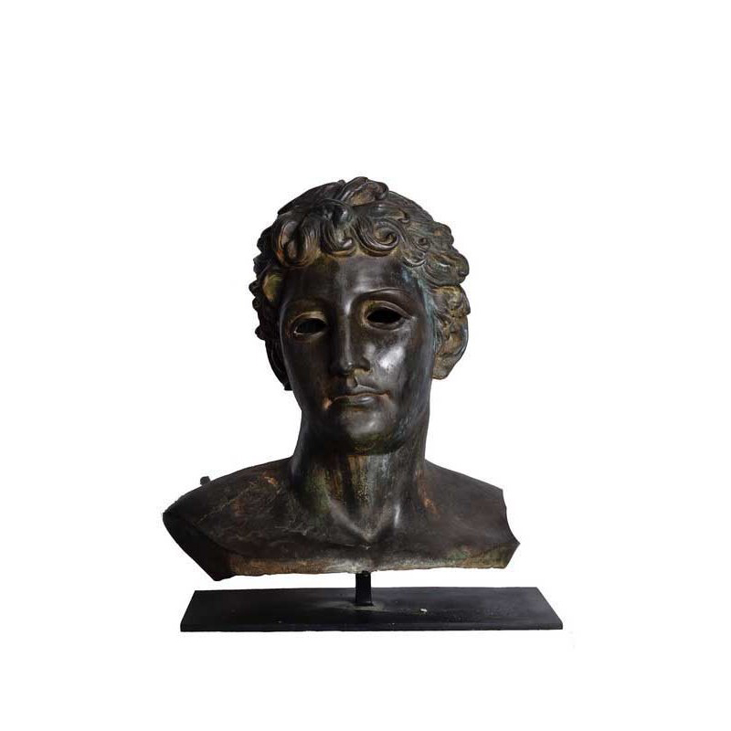 SRB53051 Bronze Male Head Partial Artifact Sculpture by Metropolitan Galleries Inc