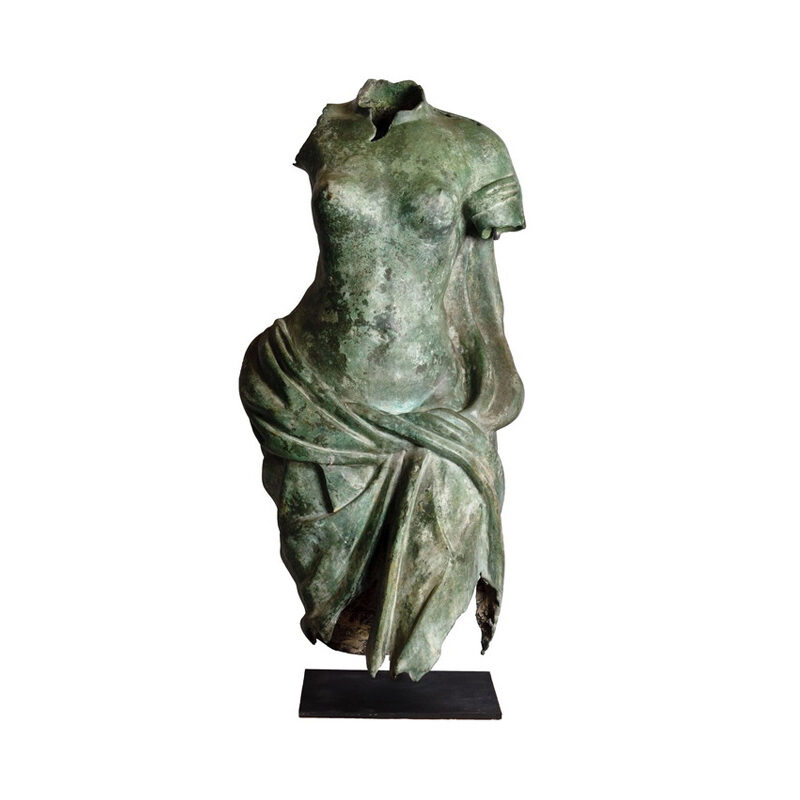 SRB53054 Bronze Female Torso Partial Artifact Sculpture by Metropolitan Galleries Inc