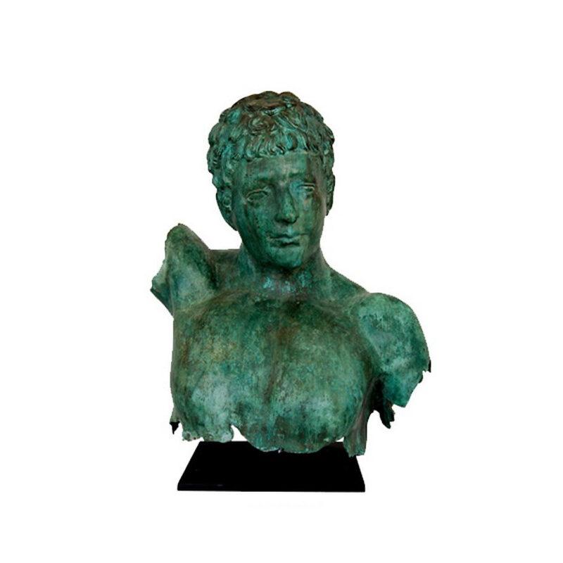 SRB53057 Bronze Male Bust Partial Artifact Sculpture by Metropolitan Galleries Inc