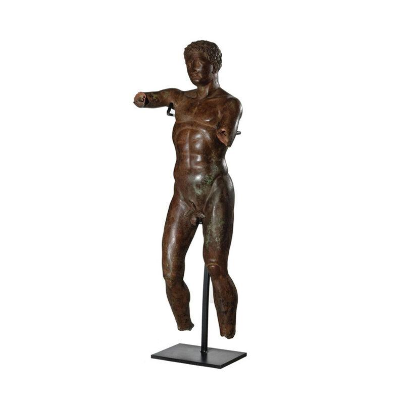 SRB53061 Bronze Male Partial Artifact Sculpture by Metropolitan Galleries Inc
