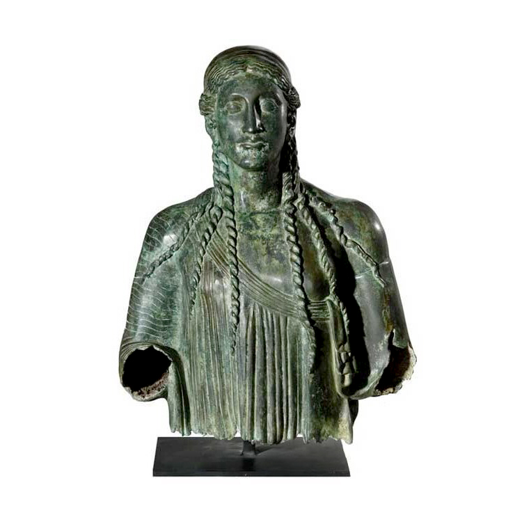 SRB53069 Bronze Cherokee Male Bust Partial Artifact Sculpture by Metropolitan Galleries Inc