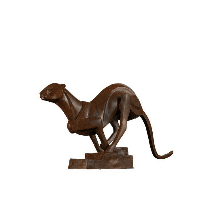 SRB60070 Bronze Contemporary Cheetah Sculpture by Metropolitan Galleries Inc