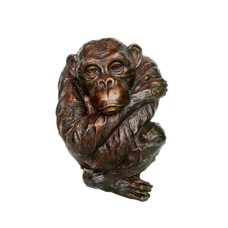 SRB707510 Bronze Lonely Monkey Sculpture by Metropolitan Galleries Inc
