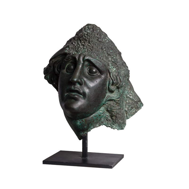 SRB910038 Bronze Emerging Head Partial Artifact Sculpture by Metropolitan Galleries Inc