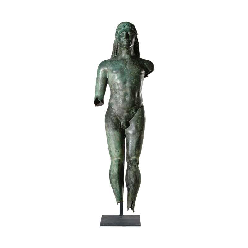 SRB910074 Bronze Nude Male Roman Greco Partial Artifact Sculpture by Metropolitan Galleries Inc