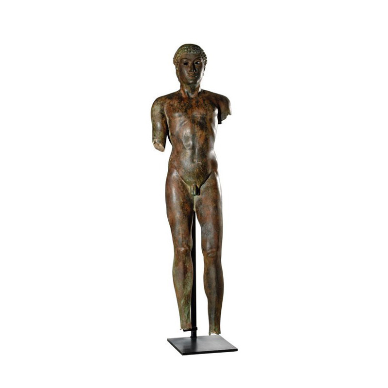 SRB910075 Bronze Nude Greco Roman Male Partial Artifact Sculpture by Metropolitan Galleries Inc