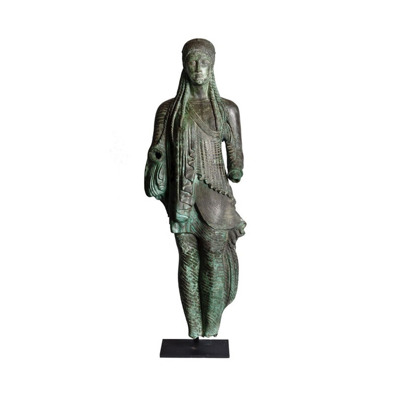 SRB910076 Bronze Greco Roman Male Partial Artifact Sculpture by Metropolitan Galleries Inc