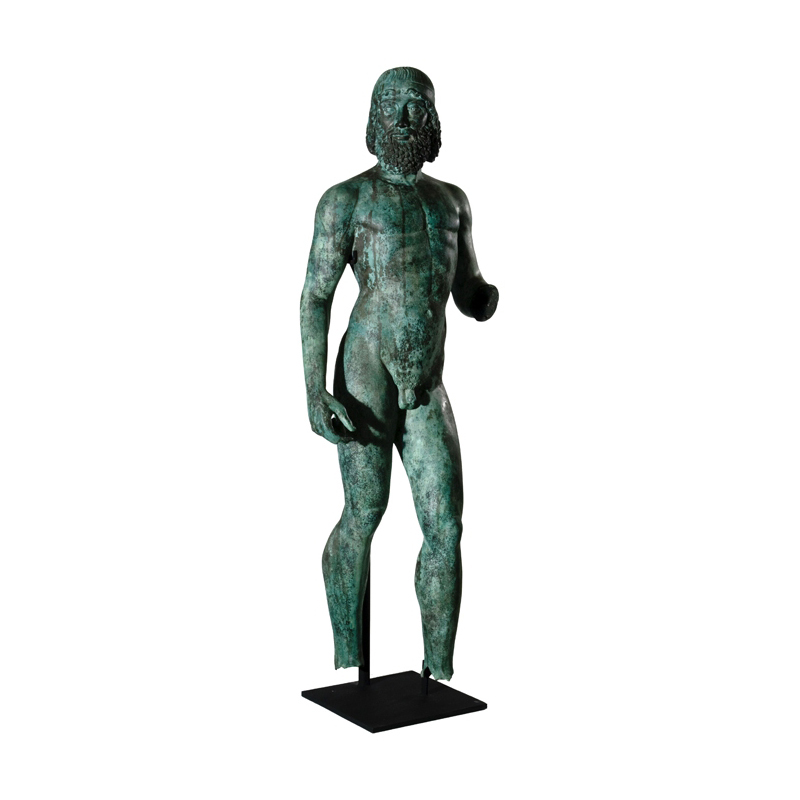 SRB910080 Bronze Nude Roman Greco Male Partial Artifact Sculpture by Metropolitan Galleries Inc