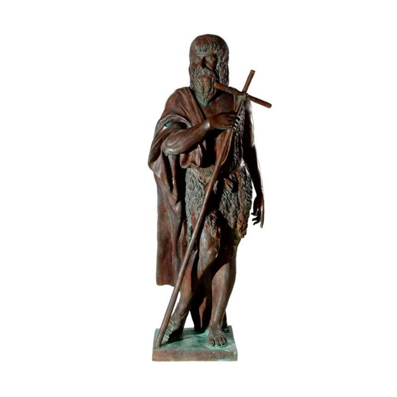SRB97032 Bronze John the Baptist Sculpture by Metropolitan Galleries Inc