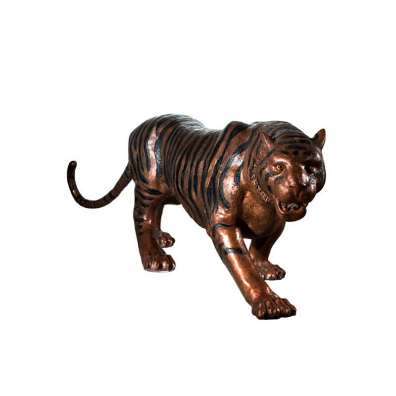 SRB990584 Bronze Walking Tiger Sculpture by Metropolitan Galleries Inc