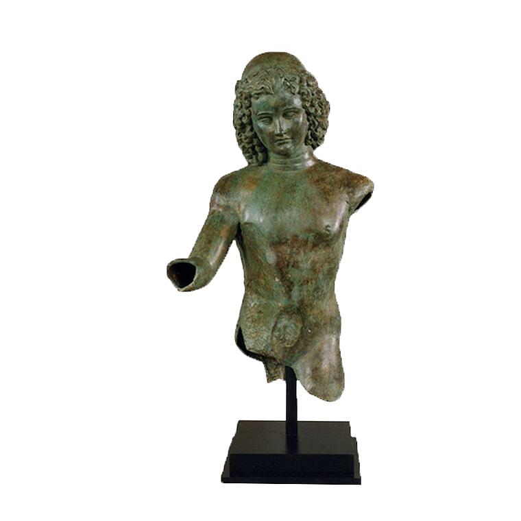 SRB991473 Bronze Dionysus Partial Artifact Sculpture by Metropolitan Galleries Inc