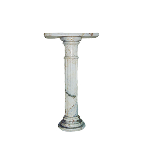 SRBKMS002 Marble Pedestal (Masha White) by Metropolitan Galleries Inc